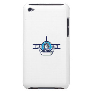 World War One Aviator Pilot Biplane Circle Retro iPod Touch Covers