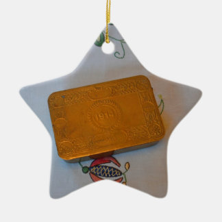 World War One Christmas Tin Ceramic Ornament