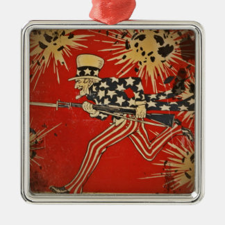 World War One Fourth of July Metal Ornament