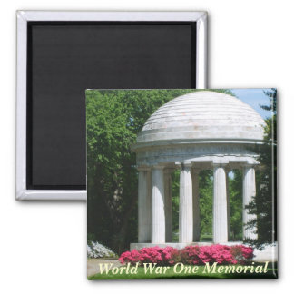 World War One Memorial 2 Inch Square Magnet