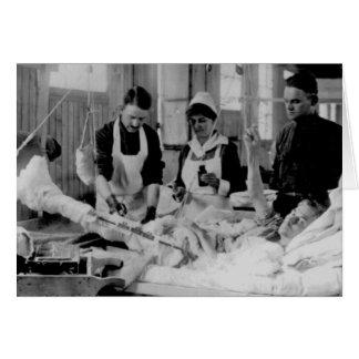 World War One Nurse Field Hospital Card