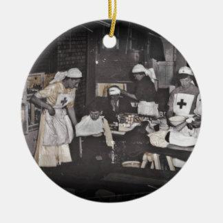World War One Nurses Aid Station Ceramic Ornament