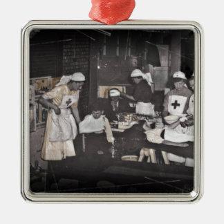World War One Nurses Aid Station Metal Ornament
