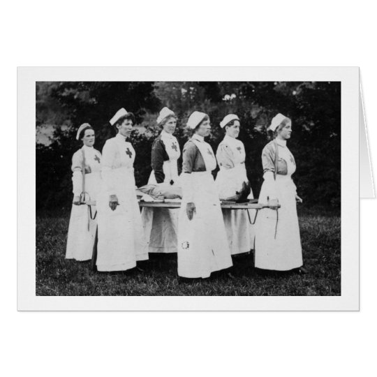World War One Nurses Carry the Wounded Card