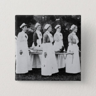 World War One Nurses with Stretcher Pinback Button