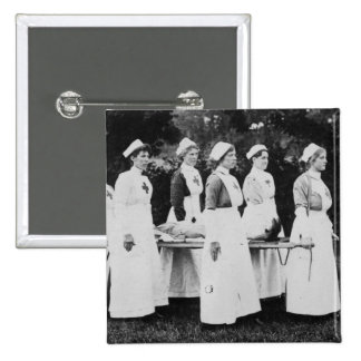 World War One Nurses with Stretcher Pinback Button