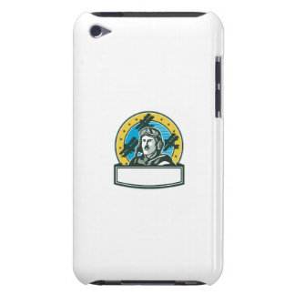 World War One Pilot Airman Spad Biplane Circle Ret iPod Touch Case-Mate Case