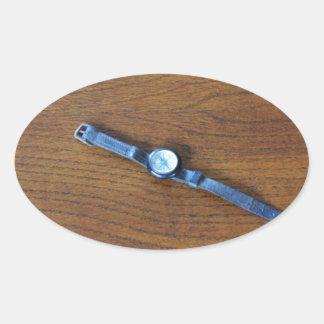 World War One Vintage Wrist Compass Oval Sticker