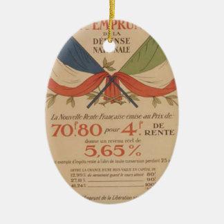 World war original poster italy bank and france ceramic ornament
