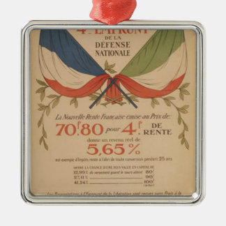 World war original poster italy bank and france metal ornament