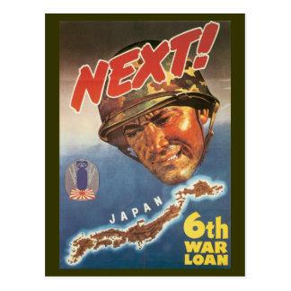 World War Postcards, War Bonds Japan poster Postcard