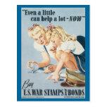 World War Postcards, War Bonds Poster - Pin up Postcard