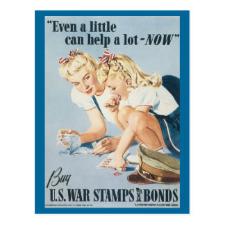 World War Postcards, War Bonds Poster - Pin up Postcard