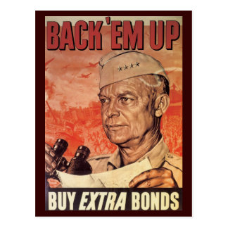 World War Postcards, War Bonds Poster Postcard
