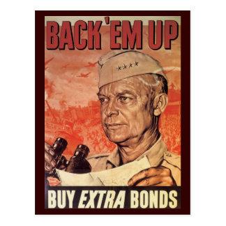 World War Postcards, War Bonds Poster Postcard