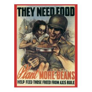 World War Postcards, War Work Effort - Crops Postcard