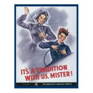 World War Postcards, Women working Postcard