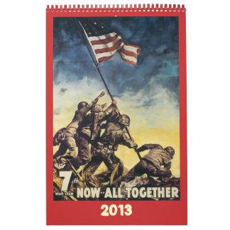 World War Poster Calendar 2013