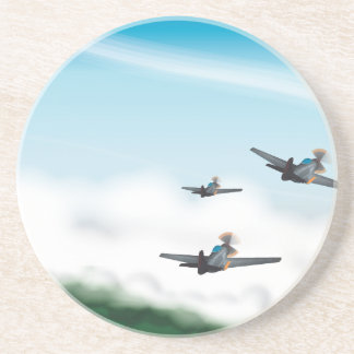 World War Two Aeroplanes Coaster