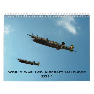 World War Two Aircraft Calender 2011 Calendar