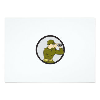 World War Two American Soldier Binoculars Circle C Card