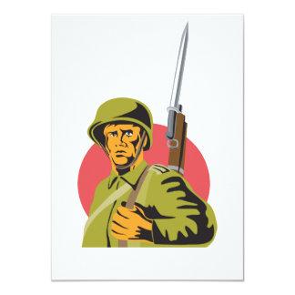 World War Two American Soldier 11 Cm X 16 Cm Invitation Card