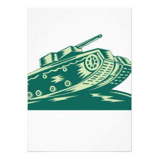 World War Two Battle Tank Invite
