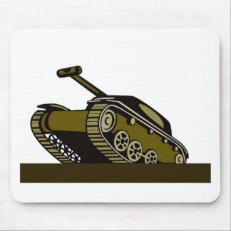 world war two battle tank retro style mouse pads