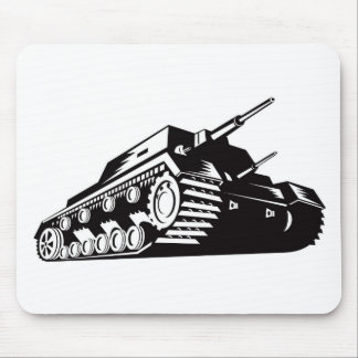 world war two battle tank retro style mousepad
