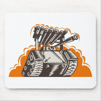 world war two battle tank retro style mouse pad