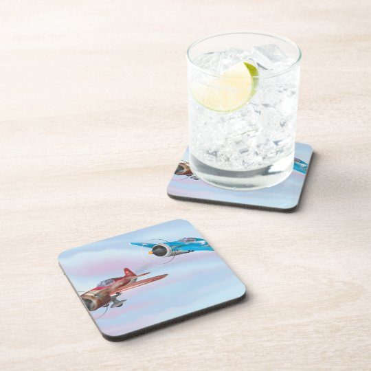 World War Two Fighter Aircraft Beverage Coaster