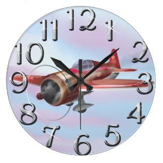 World War Two Fighter Aircraft Wall Clocks