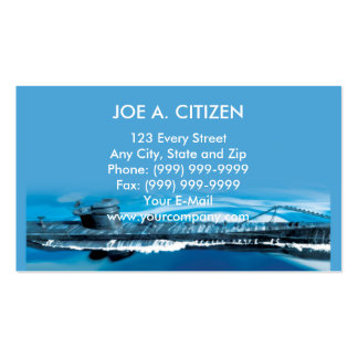 world war two german uboat submarine Double-Sided standard business cards (Pack of 100)