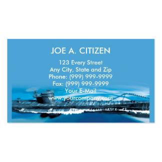 world war two german uboat submarine business card template