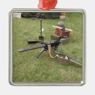 World War Two Machine Gun Metal Ornament