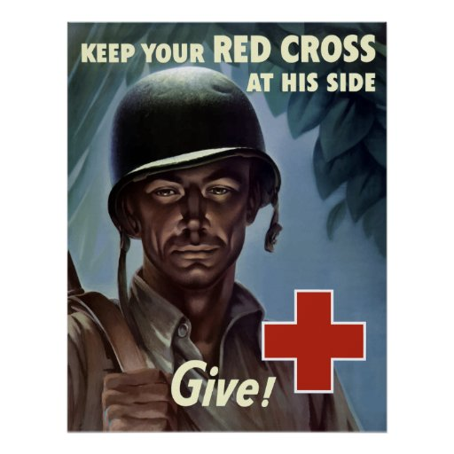 World War Two Red Cross Print