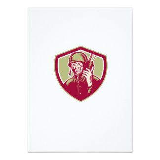World War Two Soldier American Talk Radio Crest 11 Cm X 16 Cm Invitation Card