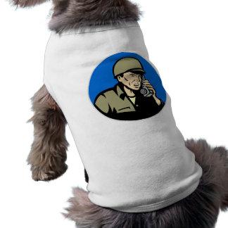 world war two soldier walkie talkie radio dog shirt