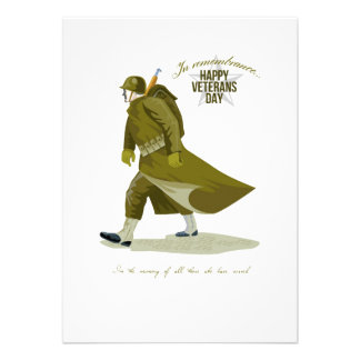 World War Two Veterans Day Greeting Card Personalised Invite