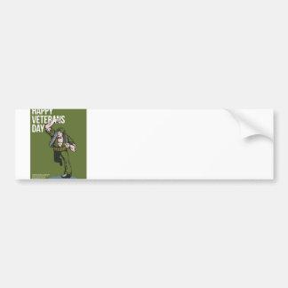 World War two Veterans Day Soldier Card Bumper Sticker