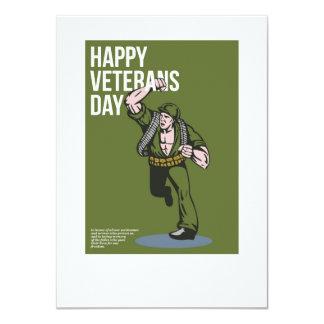 World War two Veterans Day Soldier Card 11 Cm X 16 Cm Invitation Card