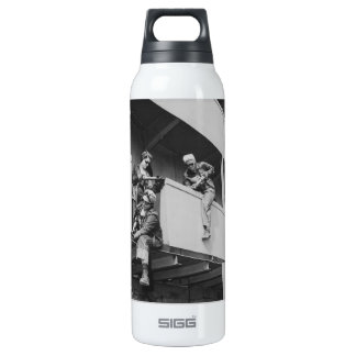 World War Two Women Chipping Slag 16 Oz Insulated SIGG Thermos Water Bottle