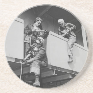 World War Two Women Chipping Slag Drink Coasters