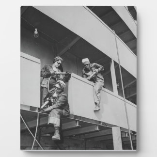 World War Two Women Chipping Slag Photo Plaques