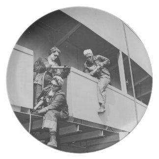 World War Two Women Chipping Slag Dinner Plate