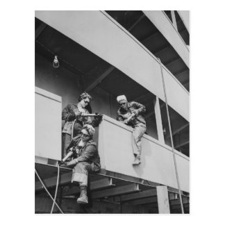 World War Two Women Chipping Slag Postcard