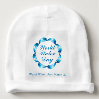 World water day March 22 Baby Beanie