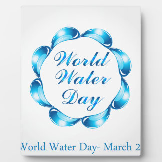 World water day March 22 Plaque