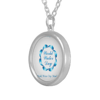 World water day March 22 Round Pendant Necklace