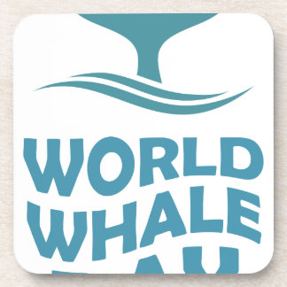 World Whale Day - 18th February - Appreciation Day Coaster